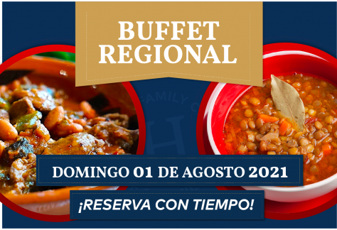Buffet Regional - Domingo 01 de agosto 2021