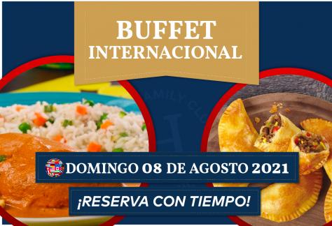 Buffet Internacional - Domingo 08 de agosto 2021