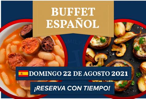Buffet Español - Domingo 22 de agosto 2021