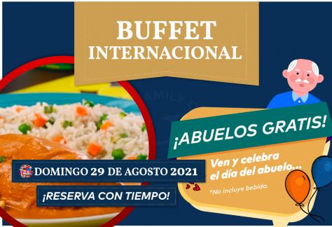Buffet Internacional - Domingo 29 de agosto 2021