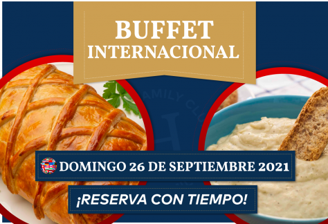 Buffet de Internacional - Domingo 26 de septiembre 2021