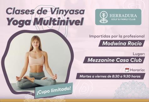 Clases de Vinyasa Yoga Multinivel