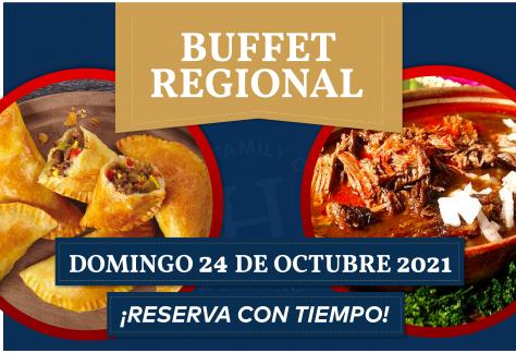 Buffet de Regional - Domingo 24 de octubre 2021